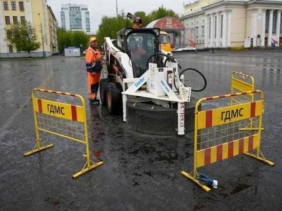 В Кирове отремонтировали центр Театральной площади