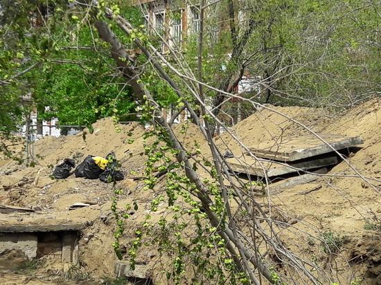 Асфальт восстановят во дворе дома после ремонта теплотрассы в Чите
