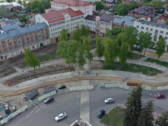 В Серпухове продолжается благоустройство на пл.Ленина
