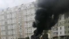 Пожар на Клыкова в Курске