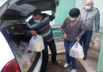 Пенсионеры Читы получают 7 кг продуктов от волонтеров