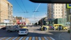 Момент ДТП с «реанимацией» в центре Рязани попал на видео