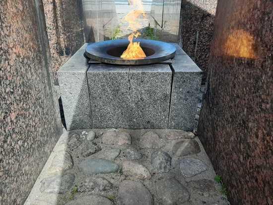 В Кронштадте неизвестные приготовили шашлык на Вечном огне