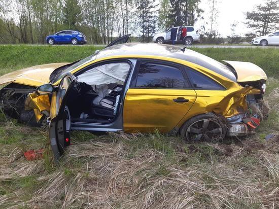В Тверской области пьяный водитель Audi уходил от полицейской погони на М-10