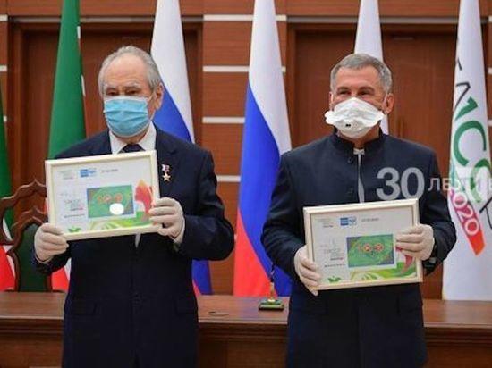 В Татарстане торжественно погасили марку в честь столетия ТАССР