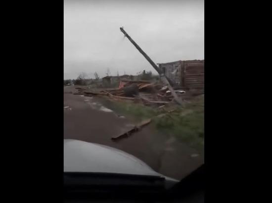 «Деревню сдуло»: в Кузбассе ураган уничтожил населенный пункт