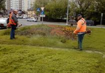 В Серпухове с соблюдением всех необходимых санитарных норм проводится ежедневная уборка территорий