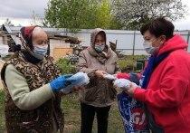 В еще оном населенном пункте Серпухова партийцы провели акцию «Носите маску»