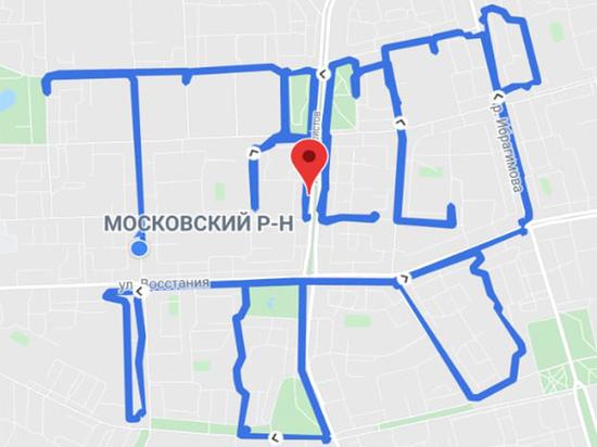 Велосипедисты нанесли на карту Казани надпись «ТАССР 100» с помощью GPS