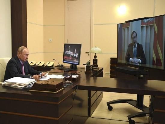 Путин пожелал смоленскому губернатору удачи