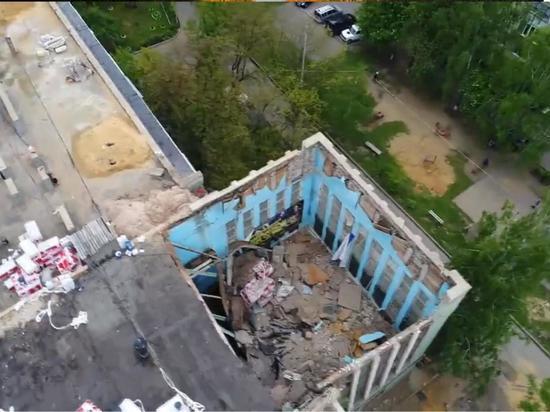 В Орле обрушилась крыша спортзала