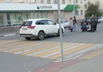 В Серпухове на пешеходном переходе напротив по ул