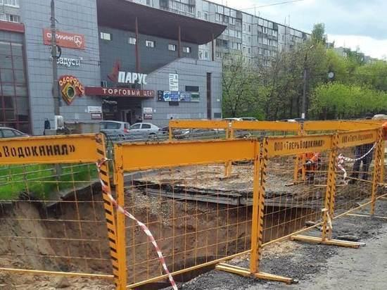 В Твери продлен срок ремонта на улице Паши Савельевой