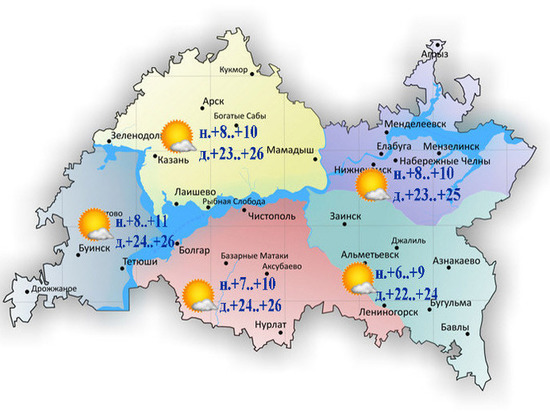 На этой неделе еще можно в Татарстане порадоваться теплым денькам