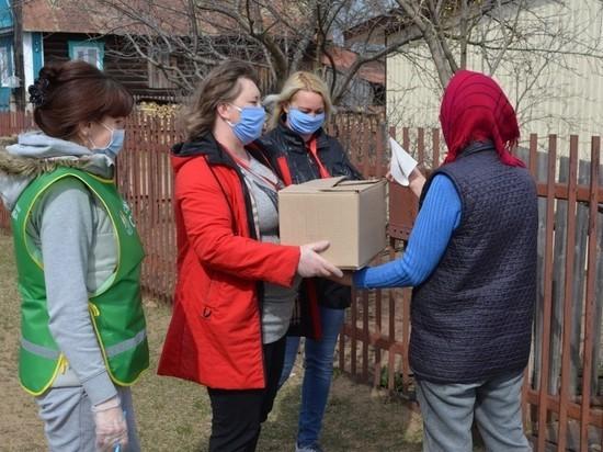 В Башкирии волонтеры разносят продукты пожилым и семьям с детьми-инвалидами