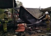 Человек пострадал на пожаре в Аристово