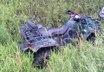 В Костромской области 76-летний гонщик на квадроцикле улетел в кювет