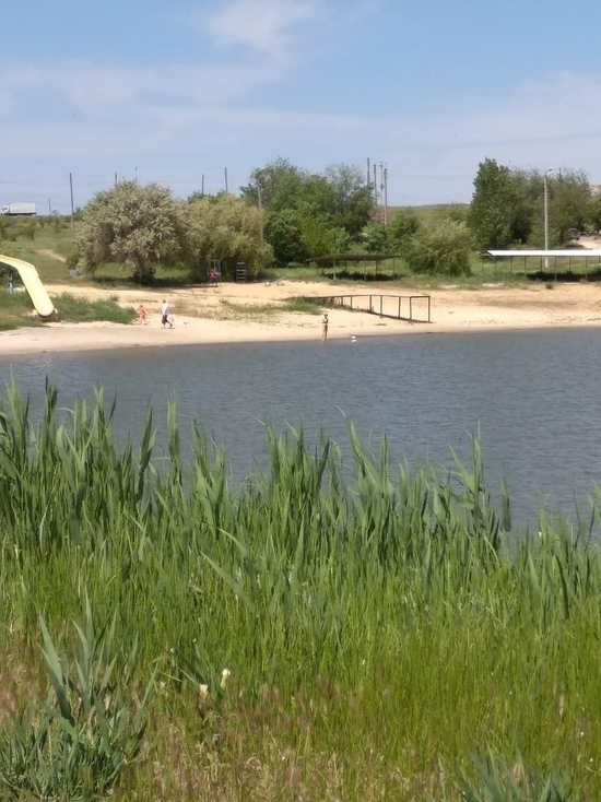 В запрещенном пруду калмыцкой столицы родители купают детей