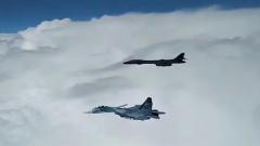 Опубликовано видео перехвата бомбардировщиков США над Черным морем