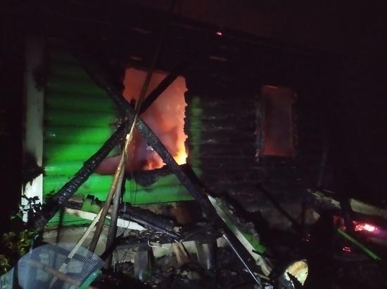 Жилой дом сгорел в боровской деревне