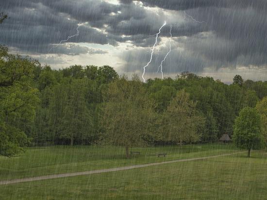 В последний день весны в Татарстане ожидаются дожди и грозы