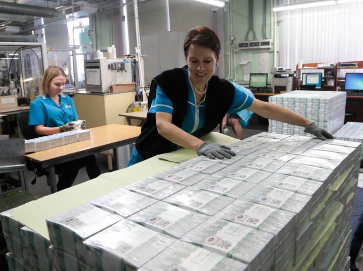Кому Россия печатает валюту: ежегодно «Гознак» продает более миллиарда банкнот