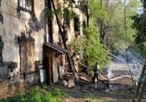 Двухэтажный барак горел в Хабаровске