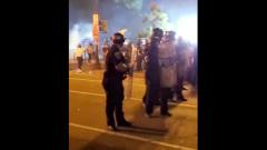 Разгон протестующих возле Белого дома в США сняли на видео