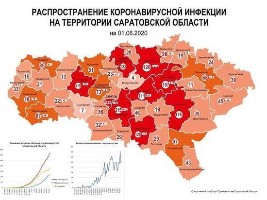 Новая «коронавирусная» карта Саратовской области: где больше всего заболевших