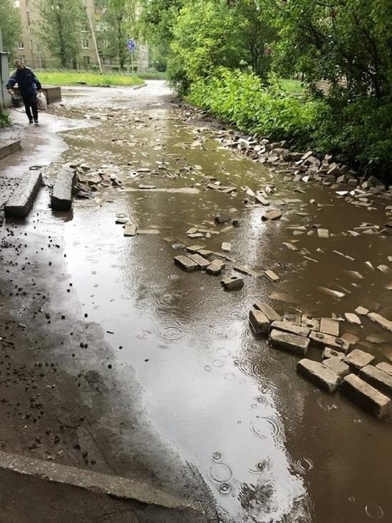 В Ярославле районная администрация назвала «кирпичный» ремонт дороги актом вандализма