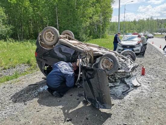 Возле Первоуральска Daewoo Matiz перевернулся на крышу: пострадали двое