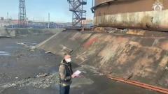 Мужик и поток: появилось видео начала норильской катастрофы
