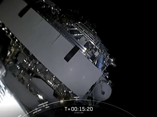 Falcon 9 доставила 60 интернет-спутников на орбиту