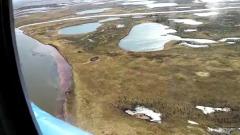Разлив топлива в Норильске показали с высоты: кадры катастрофы
