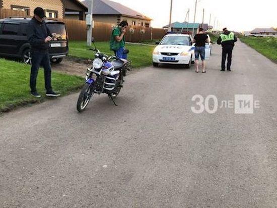 В Татарстане подросток на байке сбил мальчика