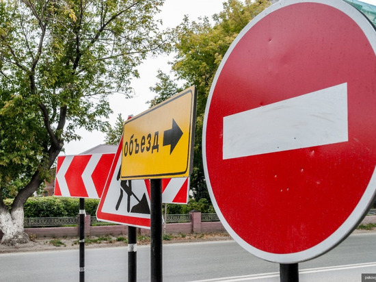 Почти на месяц закроют участок ул. Поземского в Пскове