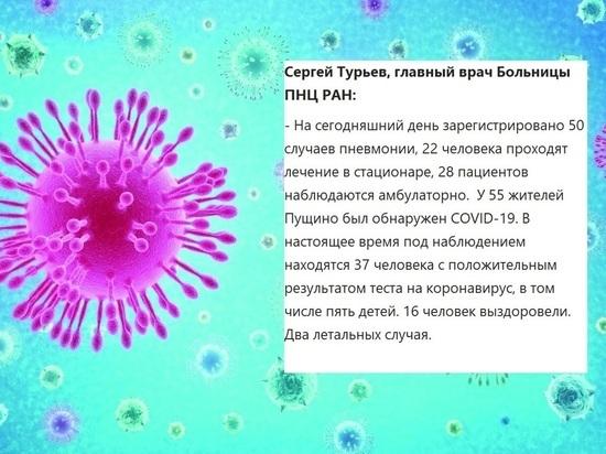 Больше пятидесяти человек заболели коронавирусом в Пущино