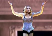 Мадонна появилась на марше памяти Флойда в Лондоне на костылях
