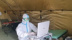 Первые пациенты поступили в полевой госпиталь в Чите