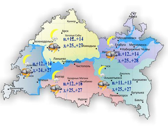 В Татарстане установилась прохладная неустойчивая погода