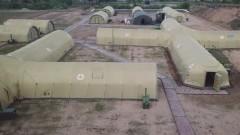 Военные показали дезинфекцию полевого госпиталя для больных COVID-19 в Чите