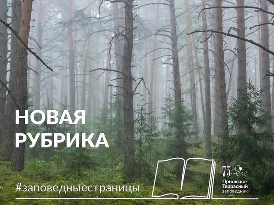 Работники Приокско-Террасного заповедника запустили новую рубрику