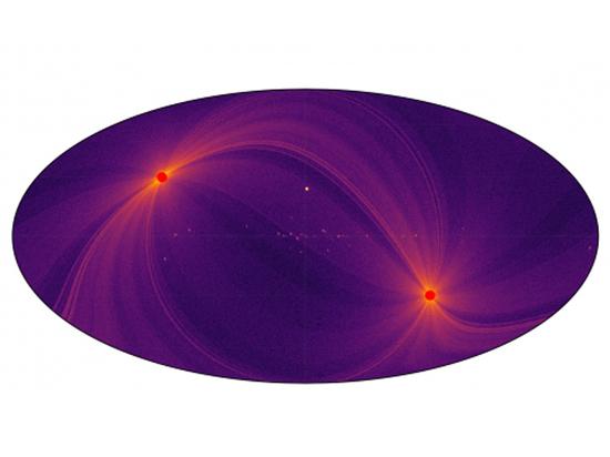 На ней отмечены черные дыры, звезды, остатки вспышек сверхновых и другие объекты