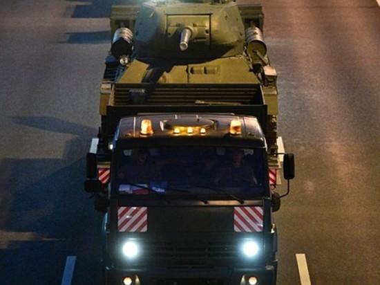 Военная техника парада Победы передислоцирована в Москву