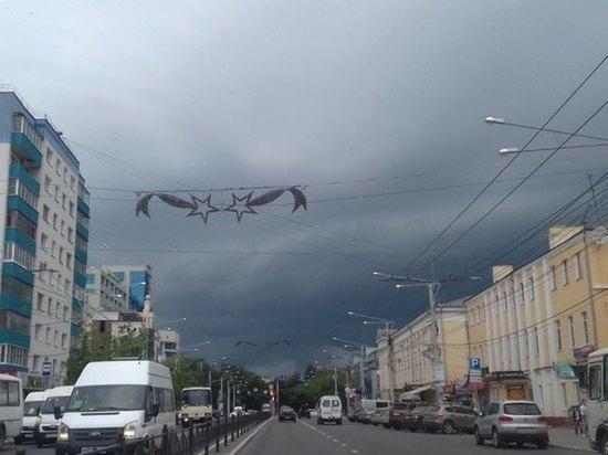 На Калужскую область надвигается гроза с градом