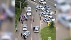 Опубликовано видео стрельбы на Ленинском проспекте