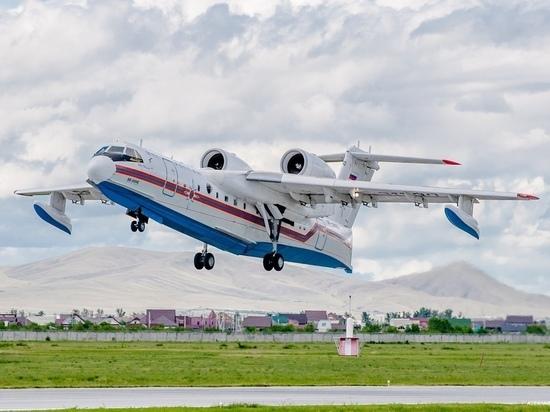 В Абаканском аэропорту сел самолет-амфибия