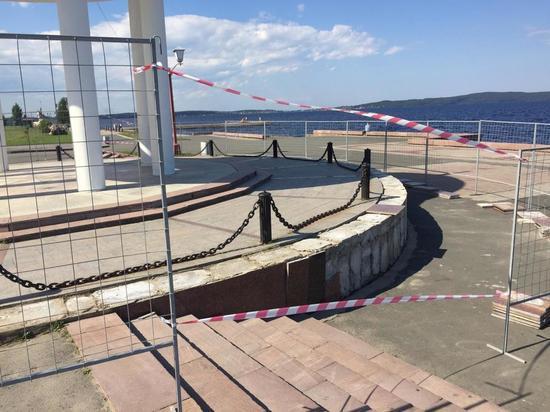 В столице Карелии продолжается реконструкция Онежской набережной