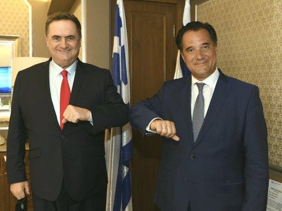 Министр финансов Исраэль Кац встретился с министром развития и инвестиций Греции