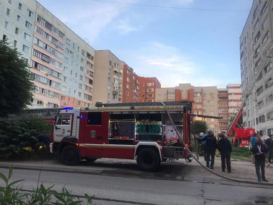 На пожаре в девятиэтажке на Шевченко никто не пострадал